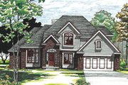 Traditional Style House Plan - 4 Beds 2.5 Baths 2340 Sq/Ft Plan #20-297 Exterior - Front Elevation