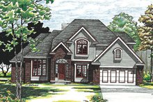 Home Plan - Traditional Exterior - Front Elevation Plan #20-297