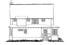 Cabin Exterior - Rear Elevation Plan #942-33