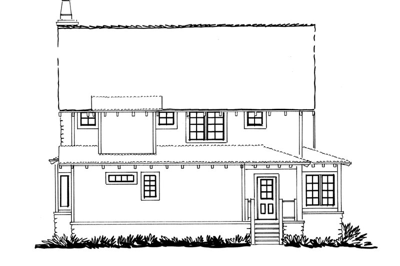 Cabin Exterior - Rear Elevation Plan #942-33 - Houseplans.com