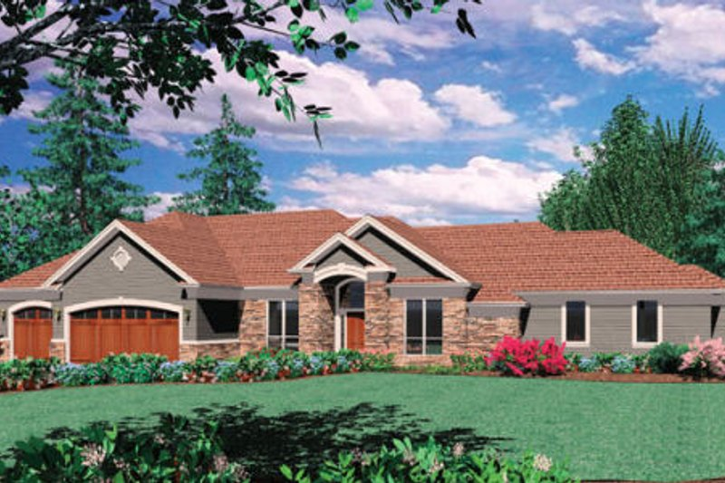 Ranch Exterior - Other Elevation Plan #48-301 - Houseplans.com