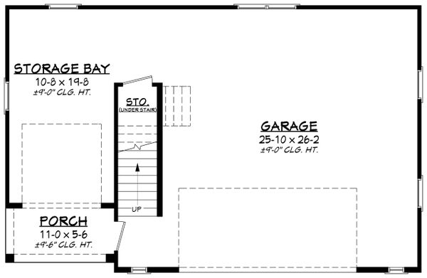 Farmhouse Floor Plan - Main Floor Plan Plan #430-237