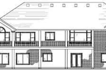 Home Plan - Traditional Exterior - Rear Elevation Plan #5-154