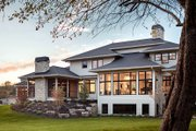 Contemporary Style House Plan - 4 Beds 3.5 Baths 4983 Sq/Ft Plan #928-287 Exterior - Rear Elevation