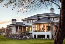 House Plan Design - Contemporary Exterior - Rear Elevation Plan #928-287