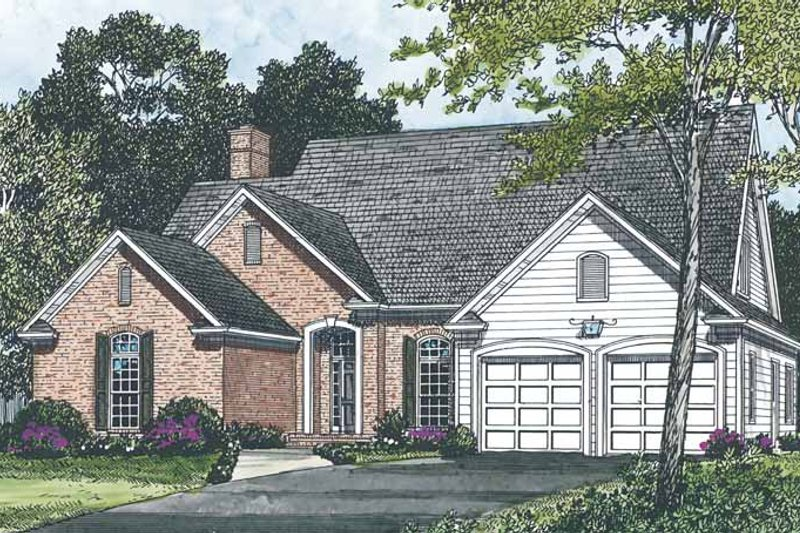 Traditional Exterior - Front Elevation Plan #453-485 - Houseplans.com