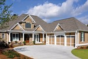 Craftsman Style House Plan - 4 Beds 3.5 Baths 3807 Sq/Ft Plan #437-69 Exterior - Front Elevation
