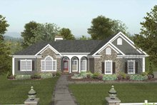 Dream House Plan - Traditional Exterior - Front Elevation Plan #56-684