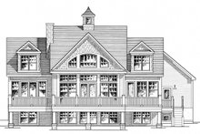 House Plan Design - Colonial Exterior - Rear Elevation Plan #316-287