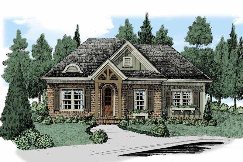 European Exterior - Front Elevation Plan #927-511 - Houseplans.com
