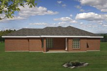 Ranch Exterior - Rear Elevation Plan #1061-32