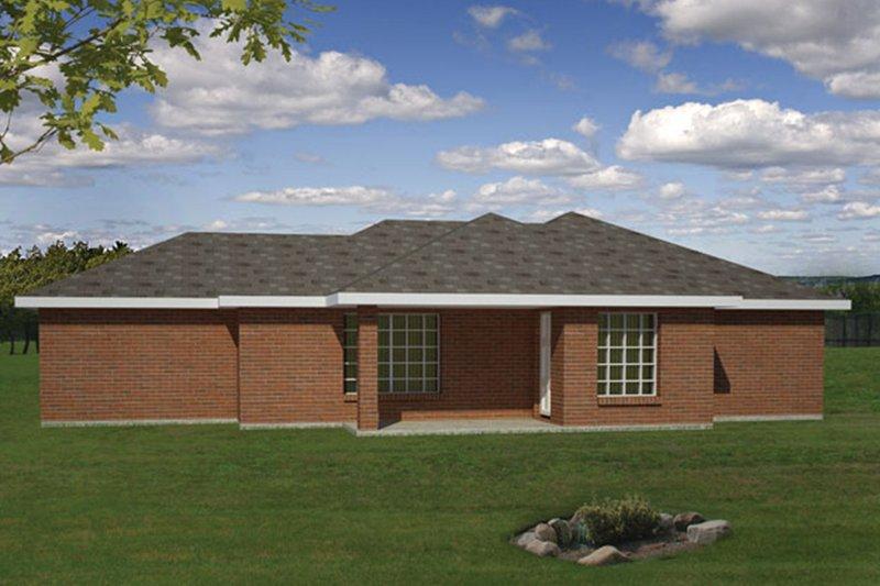 Ranch Exterior - Rear Elevation Plan #1061-32 - Houseplans.com
