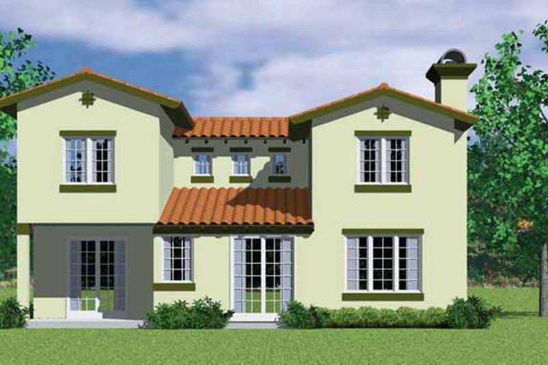 Adobe / Southwestern Exterior - Rear Elevation Plan #72-1126 - Houseplans.com