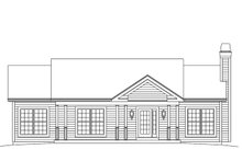 Architectural House Design - Ranch Exterior - Front Elevation Plan #57-638