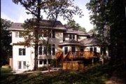 European Style House Plan - 4 Beds 3.5 Baths 3912 Sq/Ft Plan #70-525 Exterior - Rear Elevation