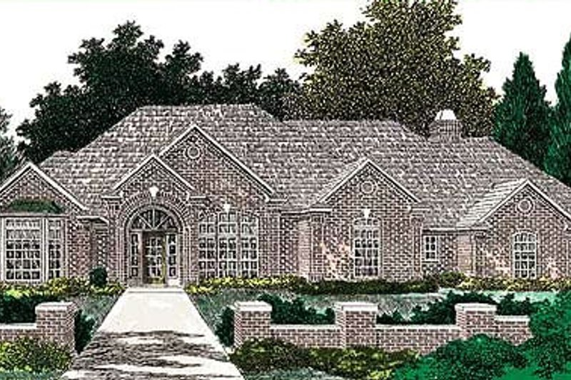 European Exterior - Front Elevation Plan #310-640