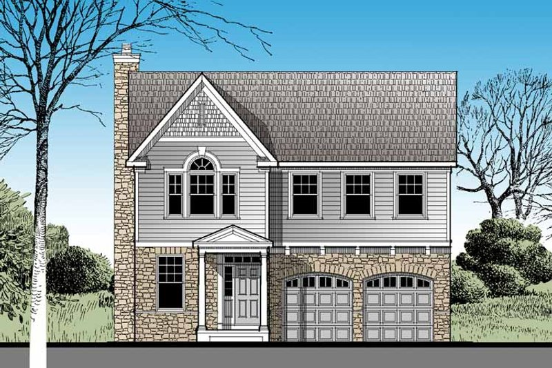 Architectural House Design - Traditional Exterior - Front Elevation Plan #1029-56