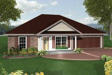 House Plan Design - Ranch Exterior - Front Elevation Plan #44-206