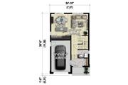 Contemporary Style House Plan - 3 Beds 1 Baths 1377 Sq/Ft Plan #25-4377 Floor Plan - Main Floor Plan