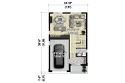 Contemporary Style House Plan - 3 Beds 1 Baths 1377 Sq/Ft Plan #25-4377 Floor Plan - Main Floor