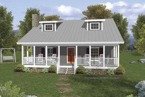 House Plan Design - Country Exterior - Front Elevation Plan #56-666