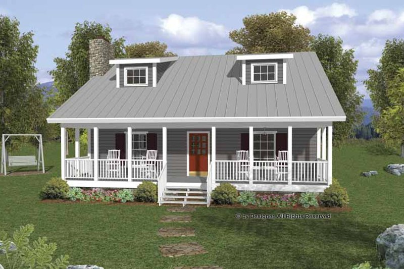 Country Exterior - Front Elevation Plan #56-666