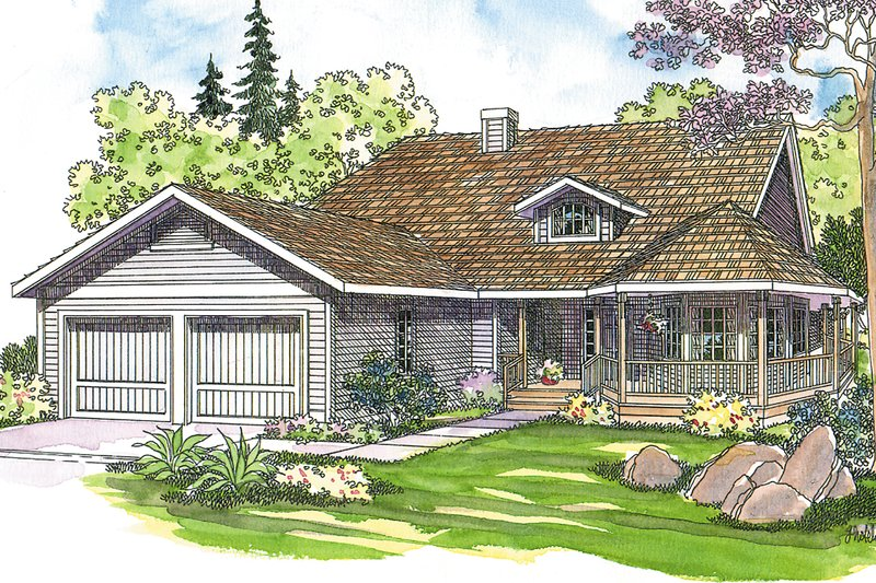 Home Plan - Traditional Exterior - Front Elevation Plan #124-172