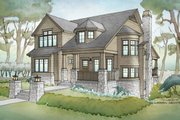 Traditional Style House Plan - 4 Beds 3.5 Baths 3677 Sq/Ft Plan #928-271 Exterior - Front Elevation
