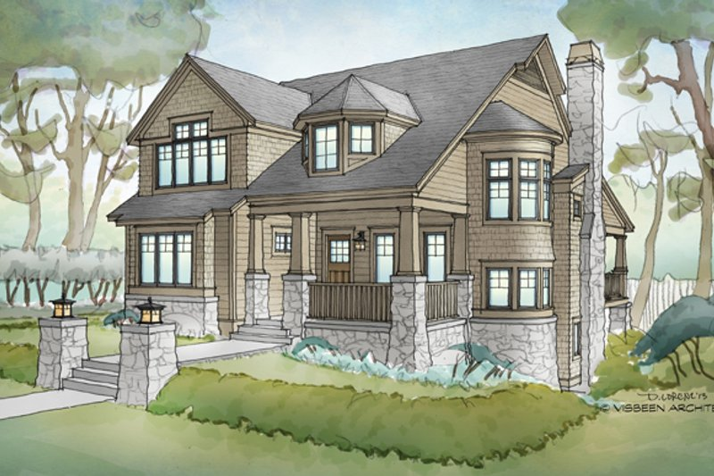 Traditional Exterior - Front Elevation Plan #928-271 - Houseplans.com