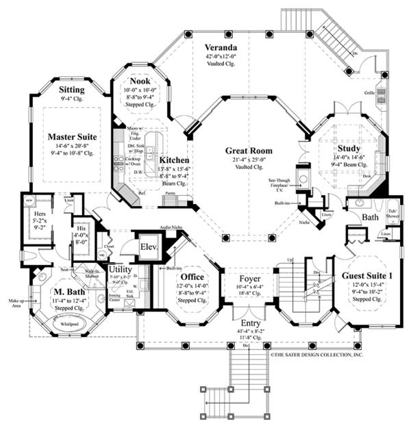 Country Floor Plan - Main Floor Plan #930-472
