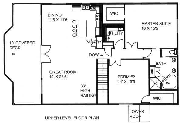 Country Floor Plan - Main Floor Plan Plan #117-881