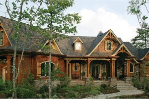 Dream House Plan - Craftsman Exterior - Front Elevation Plan #54-364