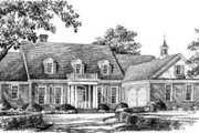 Southern Style House Plan - 5 Beds 3 Baths 4063 Sq/Ft Plan #137-231 Exterior - Front Elevation