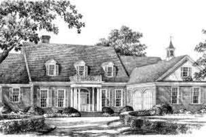 Southern Exterior - Front Elevation Plan #137-231