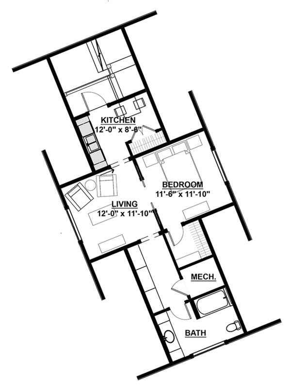 Country Floor Plan - Other Floor Plan Plan #928-285