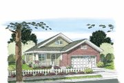 Craftsman Style House Plan - 3 Beds 2 Baths 1253 Sq/Ft Plan #513-2106 Exterior - Front Elevation