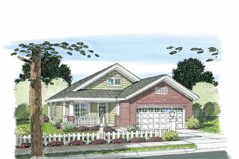 Craftsman Exterior - Front Elevation Plan #513-2106 - Houseplans.com