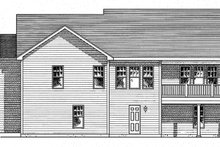 Home Plan - Ranch Exterior - Rear Elevation Plan #316-290