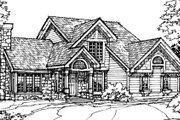 Bungalow Style House Plan - 2 Beds 2.5 Baths 1957 Sq/Ft Plan #320-343 Exterior - Front Elevation
