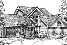 Bungalow Exterior - Front Elevation Plan #320-343