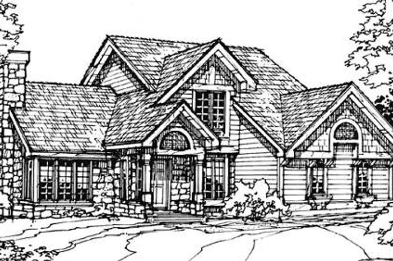 Bungalow Exterior - Front Elevation Plan #320-343