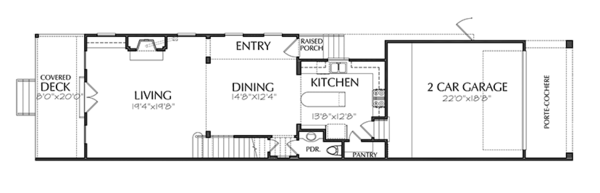Traditional Floor Plan - Main Floor Plan Plan #1021-18