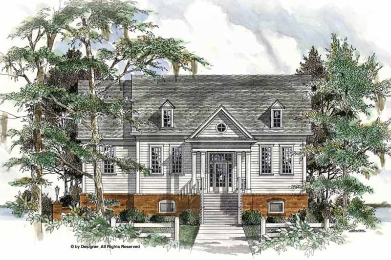 Architectural House Design - Traditional Exterior - Front Elevation Plan #54-319