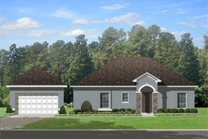 Home Plan Design - Mediterranean Exterior - Other Elevation Plan #1058-115