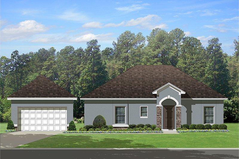 House Plan Design - Mediterranean Exterior - Other Elevation Plan #1058-115