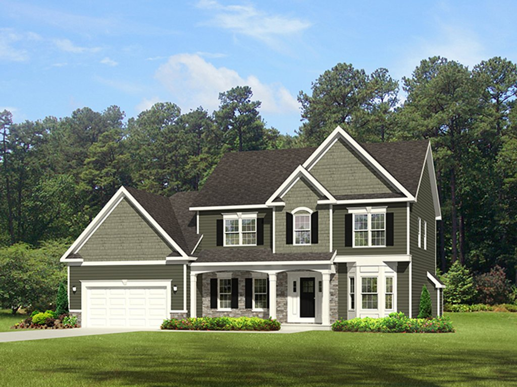 Traditional Style House Plan - 4 Beds 2.5 Baths 2300 Sq/Ft