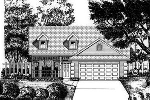 Architectural House Design - Traditional Exterior - Front Elevation Plan #62-103