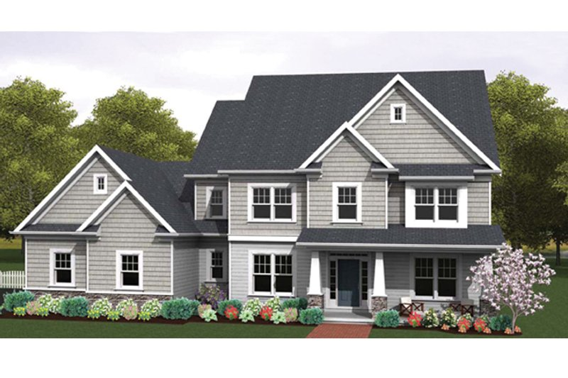Dream House Plan - Colonial Exterior - Front Elevation Plan #1010-63