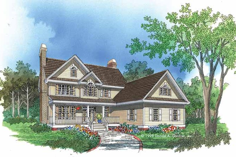 Country Exterior - Front Elevation Plan #929-424