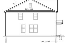 House Plan Design - Colonial Exterior - Other Elevation Plan #1053-54